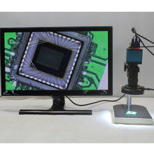 Big discount HD 1080P 2.0MP Industrial Microscope Camera VGA USB AV Three Output Interface 8X-130X C-mount Lens Adjustable LED lights Bracket