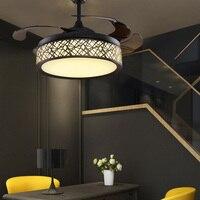 Потолочный вентилятор светодиодные фонари ресторан Вентилятор простой бытовой гостиной спальня с Электрический вентилятор люстра управл