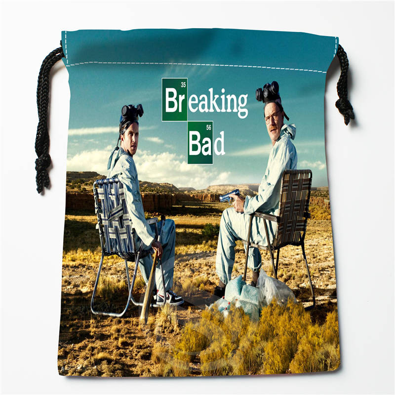 E#!c130 New Beaking Bad Custom Printed  Receive Bag Compression Type Drawstring Bags Size 18X22cm 7&12vc-qv130
