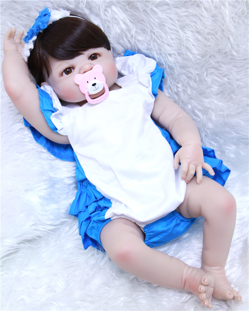 NPK 23 girl body full silicone reborn baby dolls toys play house toys for kids  real fake baby doll silicone bebe dollsbonecaNPK 23 girl body full silicone reborn baby dolls toys play house toys for kids  real fake baby doll silicone bebe dollsboneca