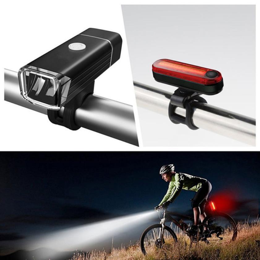 Fahrrad Lichter USB LED Wiederaufladbare Satz Berg Zyklus Vorderseite Rückseite Scheinwerfer Taschenlampe Vier Muster Optionen Nacht Fahrt Sicher P30