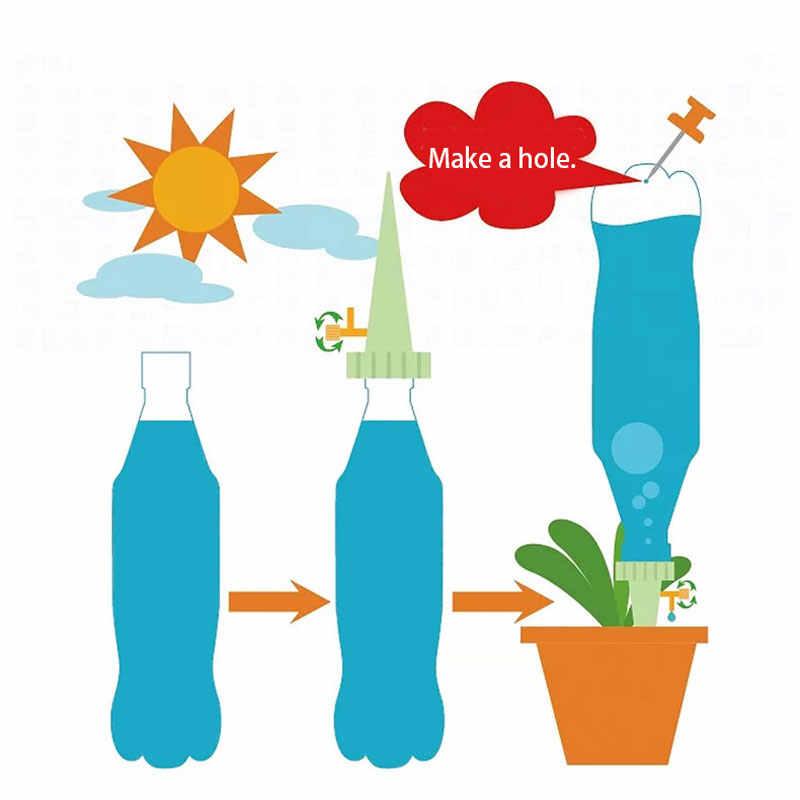 Автоматическая капельная полив для домашнего полива 1 шт. система водонагревателей DIY Автоматическая капельная вода Шипы Конус полив растений