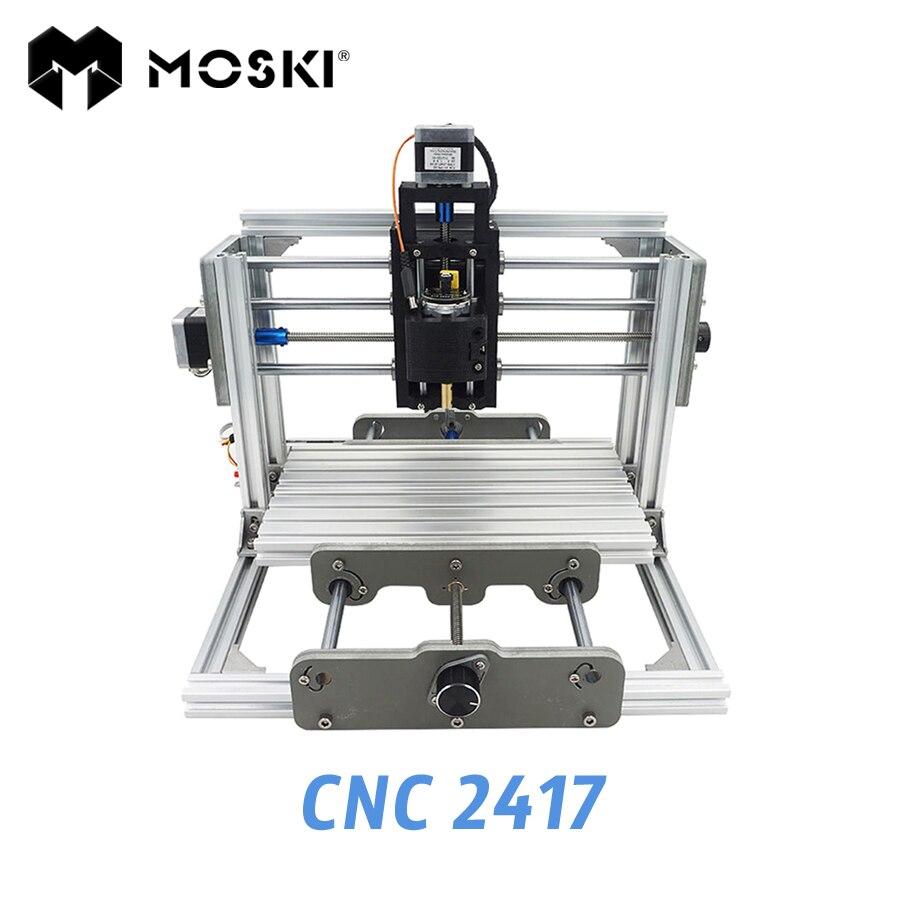 MOSKI CNC2417 diy engraving machine 500mw 2500mw 5500mw laser 3axis Pcb Pvc Milling metal and wood