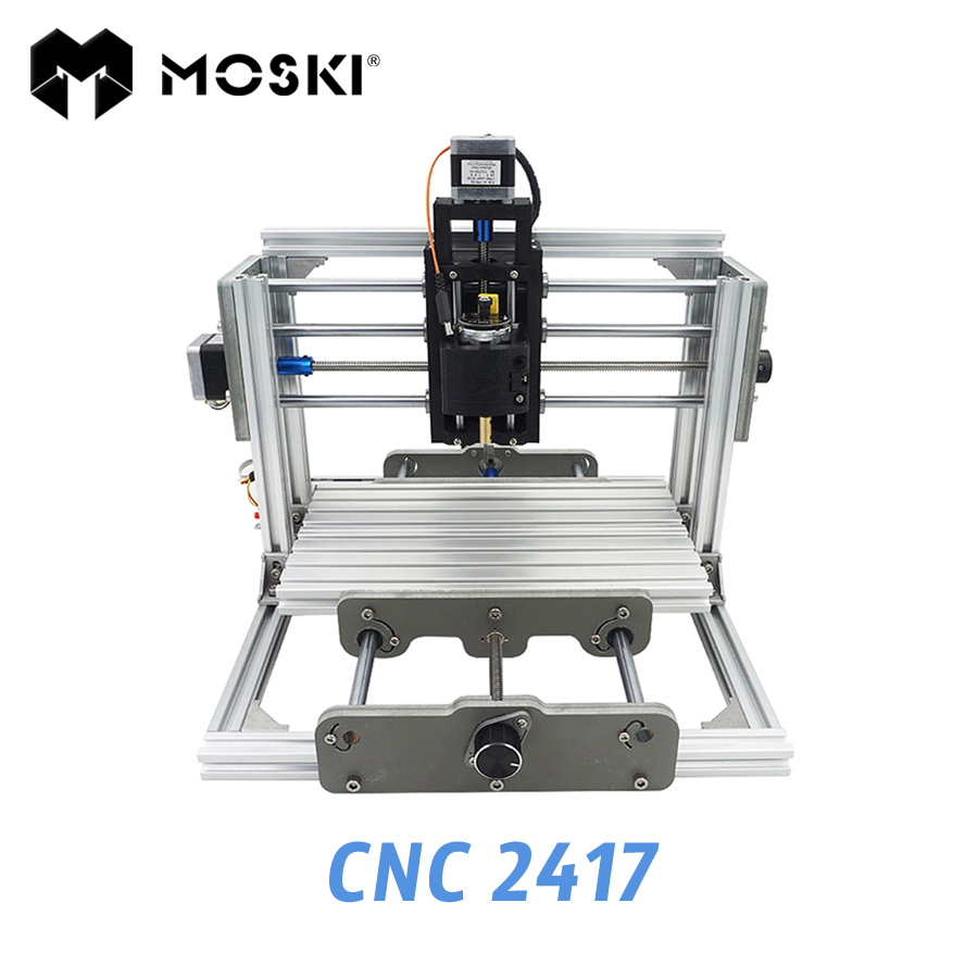 MOSKI,CNC 2417 diy engraving machine, 1000mw 2500mw 5500mw laser, 3axis Pcb Pvc Milling, metal and wood Carving, GRBL
