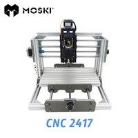 Cnc 2417 Diy Cnc Engraving Machine 3axis Mini Pcb Pvc Milling Machine Metal Wood Carving Machine