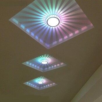 Многоцветные светодиодные потолочные светильники для прихожей, коридоров, гостиной, ТВ-стены, креативные индивидуальные маленькие потолоч...