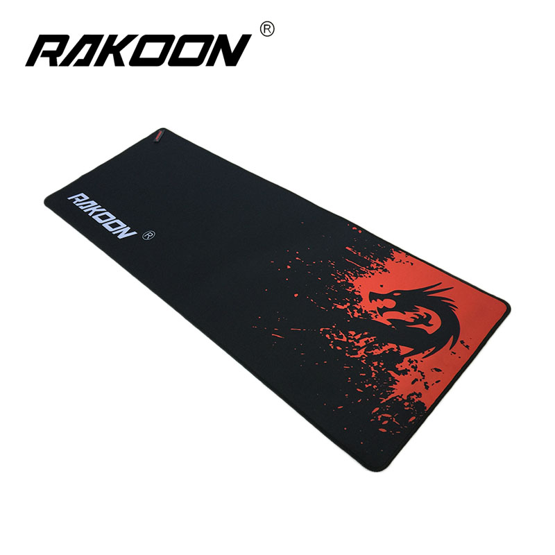 Rakoon Red Dragon Մեծ խաղային մկնիկի պահոց 30 * 80CM Lock Edge Mousepad Speed ​​/ Control Version Mouse Mouse Mat Dota 2 CS GO