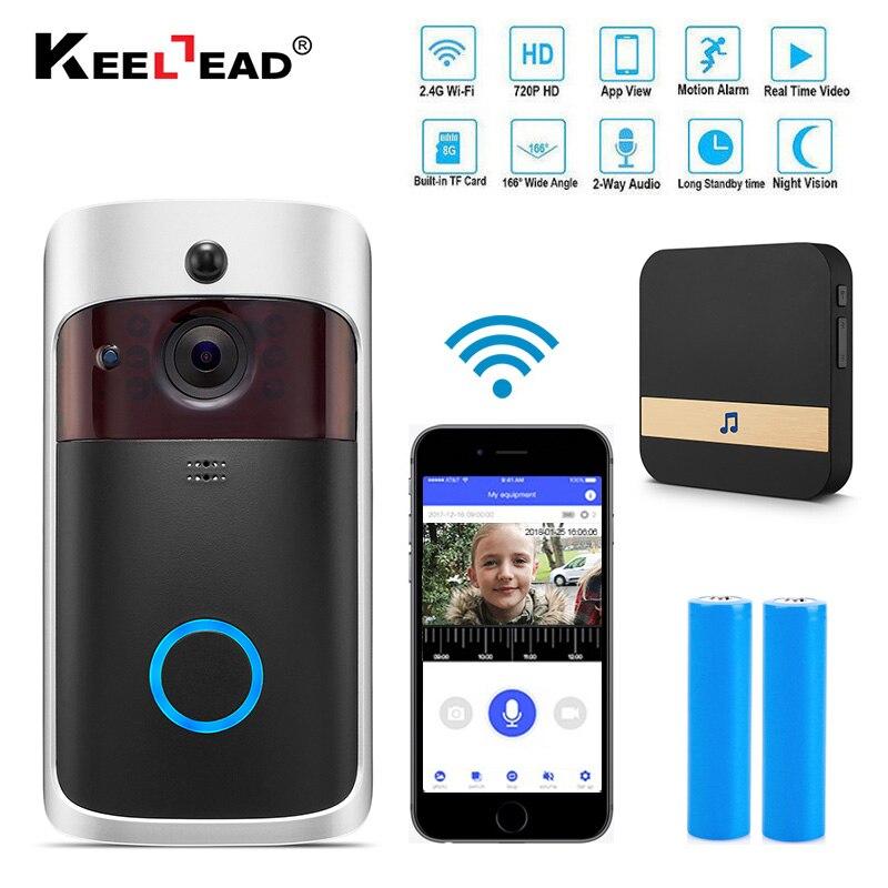 Inteligente IP Video intercomunicador Wi-Fi de vídeo Teléfono de puerta timbre de la puerta WIFI timbre Cámara apartamentos IR alarma inalámbrica cámara de seguridad