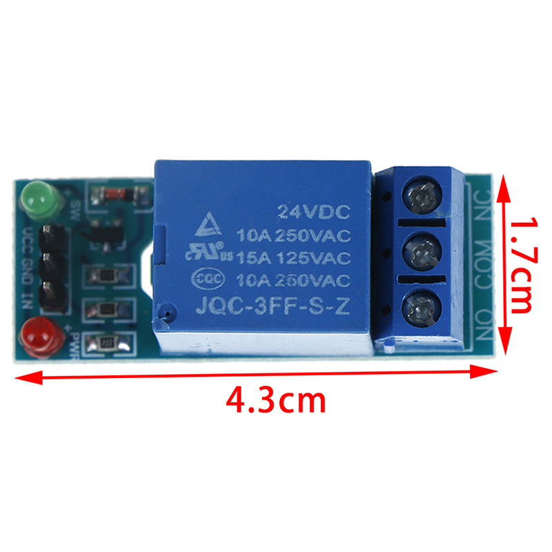 1 Channel 24v Relay Module Board Shield For Arduino With Optocoupler Support High And Low Level Trigger