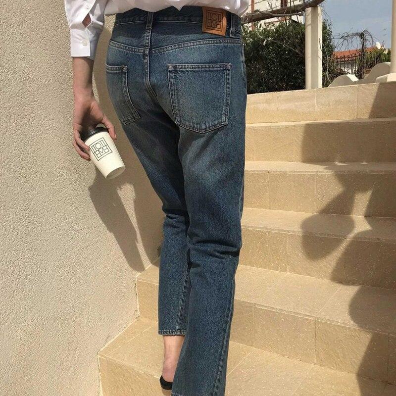 2019 New Women Straight Leg Jeans Fashion Cotton Pantalon Femme Jean Pants