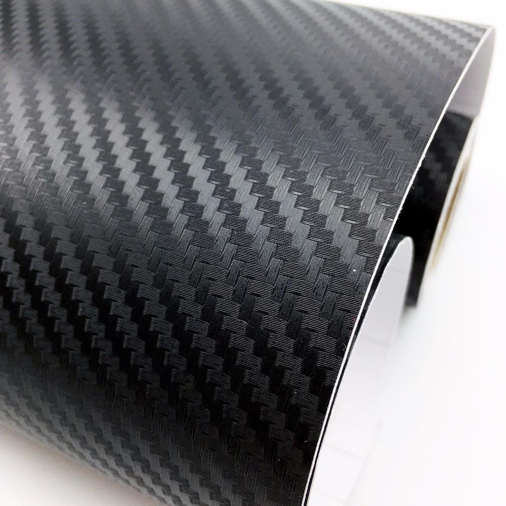 50CM Width Car Stickers 3D Carbon Fiber Vinyl Film Waterproof Styling Wrap Auto Motorcycle Accessories