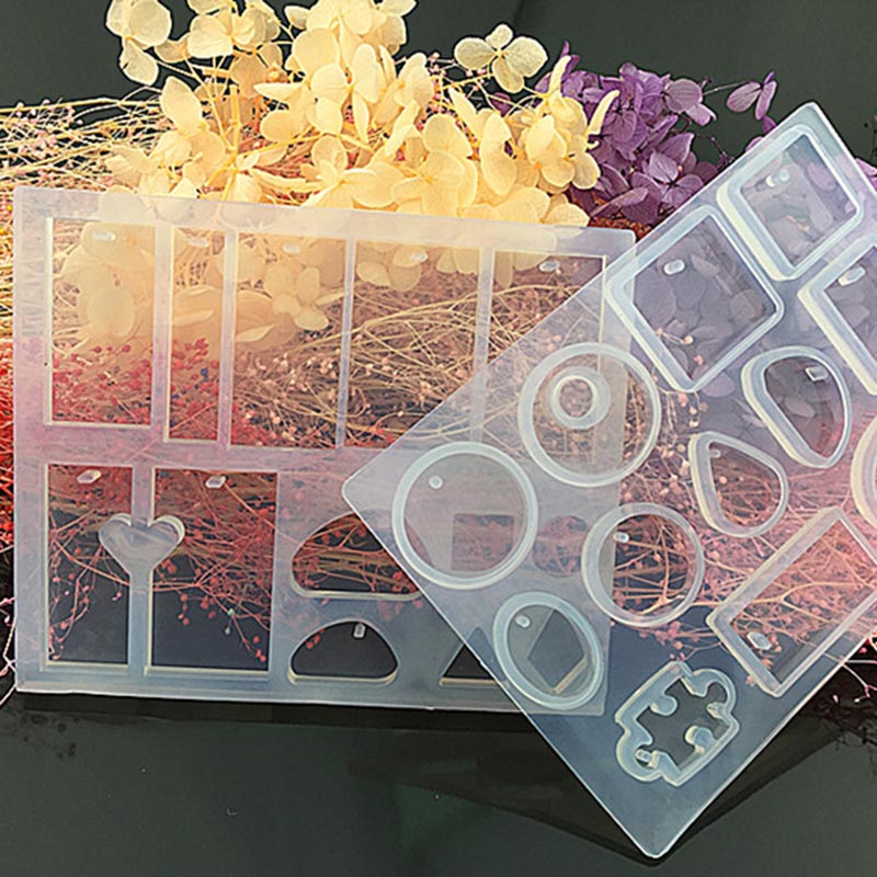 Transparent UV Resin Molds Liquid Silicone Mold Craft DIYJewelry Tools Molds For Jewelry Making Earrings Necklace Bracelet VL