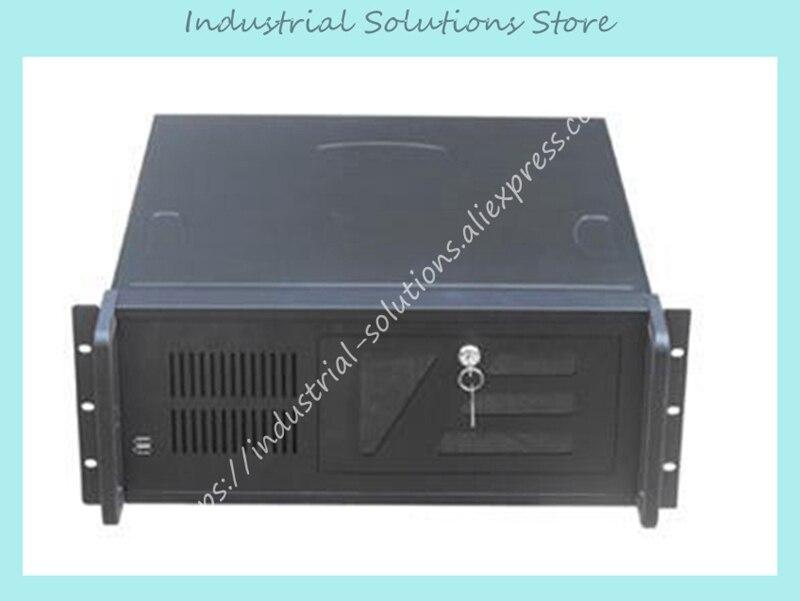 Новый 4U4512 промышленный компьютер случай 450 мм долго формы 1.2 мм черный компьютера Белый
