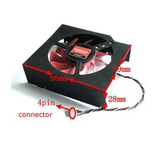 Free shipping FD8015U12S 98x89x28mm 12V 0.5A  Fan For AMD Radeon HD 7870 MSI R7950 Graphics card cooling