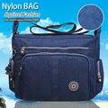 Ardilla moda Nylon impermeable solid patchwork de las mujeres bolsa de mensajero portátil ultraligero mochilas bolsa de viaje ocasional