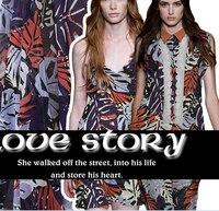 Italy high grade Imitation cotton yarn printing material skirt dress shirt senior custom fabric