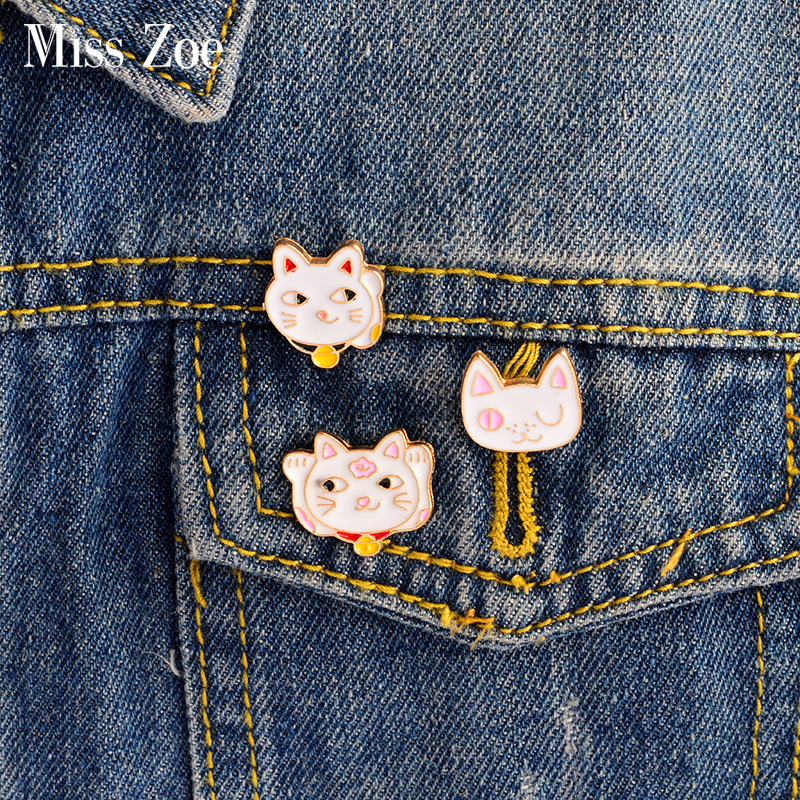Arts,crafts & Sewing 1pc Cheap Cute Little Cat With Sungalsses Brooch Button Pins Denim Jacket Pin Badge Badge Collar Jewelry Gift For Kids Up-To-Date Styling Apparel Sewing & Fabric