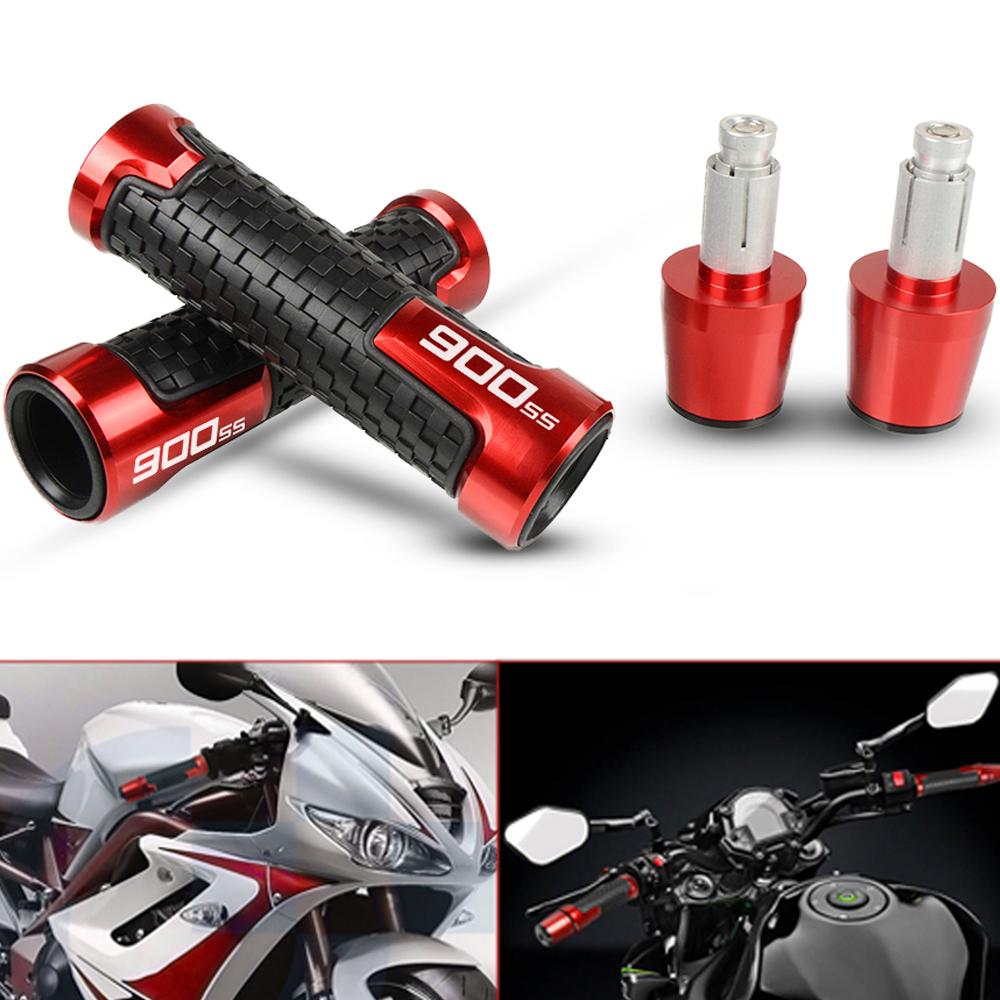 Motorcycle CNC Aluminum Handlebar Handle Hand Grips And Handle Bar Ends Weights Sets For DUCATI 900SS 900 SS 1991-1997 1992 1993