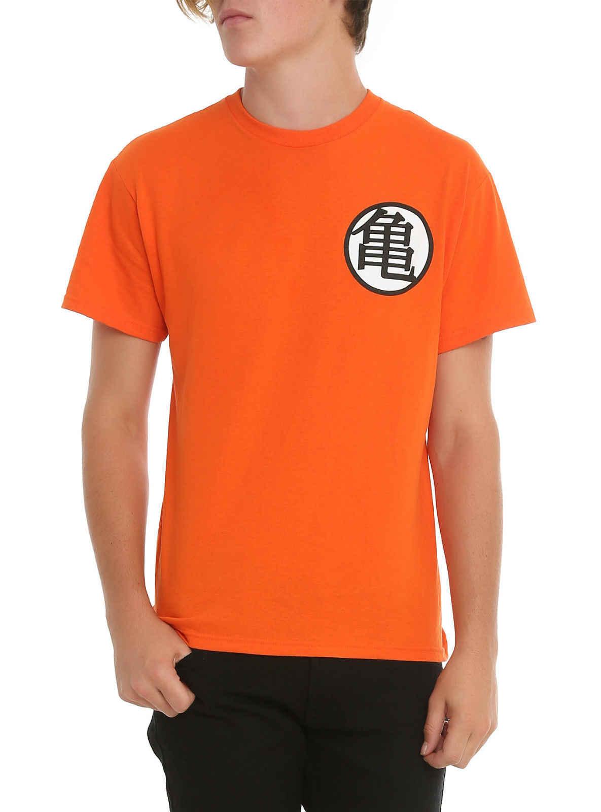 DRAGON BALL Z Мастер Роши Гоку Супер Саян сзади и спереди принт оранжевая футболка бесплатная доставка Harajuku топы Модные Классические