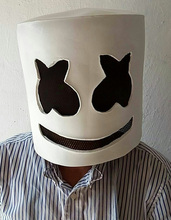 NEW Mask Marshmello Helmet DJ Face Hat Music Fans Concert Props Helm High Quality latex Halloween Christmas Gift