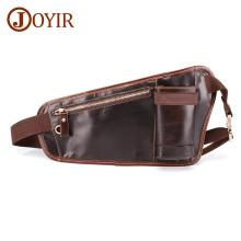 JOYIR New Mens Chest Bag Genuine Leather Men Waist High Quality Fashion Male Messenger For Man