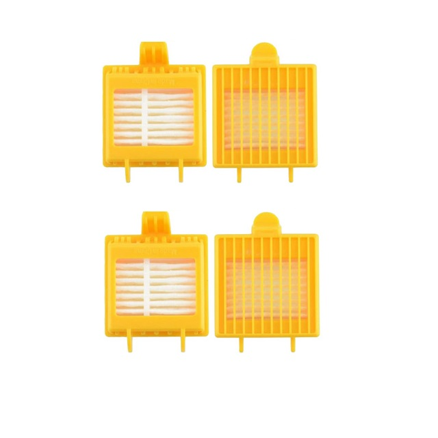 4 Pcs Hepa Filter for IRobot Roomba 700 Series 750 760 770 780 790 Robot Vacuum Cleaner Accessories Replacement Filter bristle brush flexible beater brush fit for irobot roomba 500 600 700 series 550 650 660 760 770 780 790 vacuum cleaner parts
