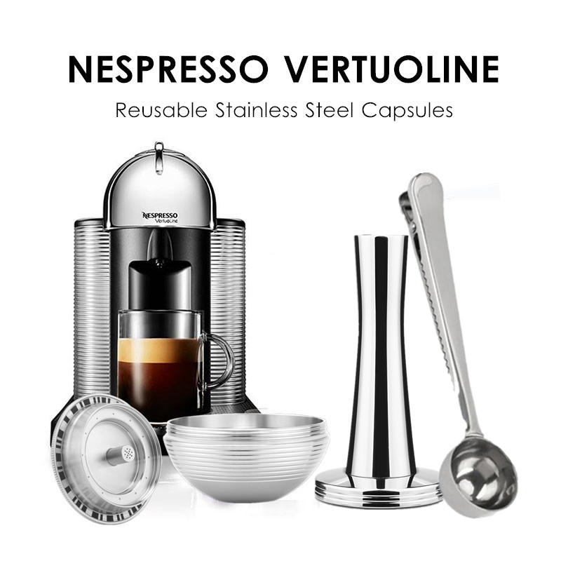 BIG Coffee Filters For Nespresso Vertuo Vertuoline GCA1 & Espresso Delonghi ENV135 Refillable Stainless Steel Coffee Capsule PodBIG Coffee Filters For Nespresso Vertuo Vertuoline GCA1 & Espresso Delonghi ENV135 Refillable Stainless Steel Coffee Capsule Pod