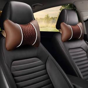 Image 5 - Oreiller de voiture, appui tête de voiture, oreiller cervical, soie, glace, siège dauto, coussin pour le cou, une paire de quatre saisons