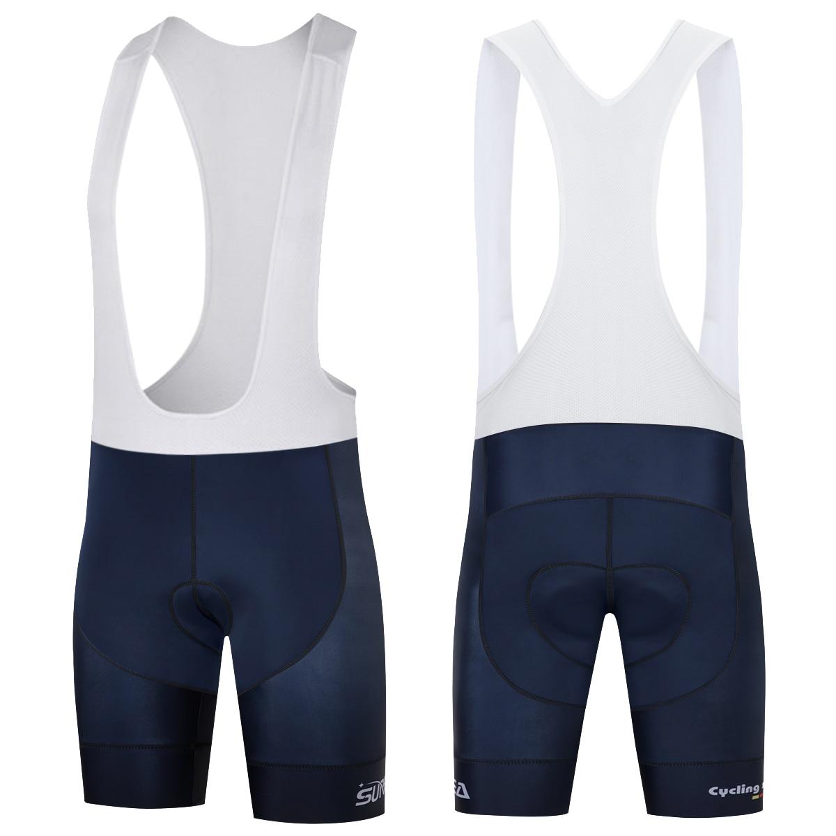 SUREA Mens Cycling Shorts Bicycle Bike Mtb Blue 3D Padded Coolmax Gel Black Fitness Outdoor Cycling Shorts XS-4XL