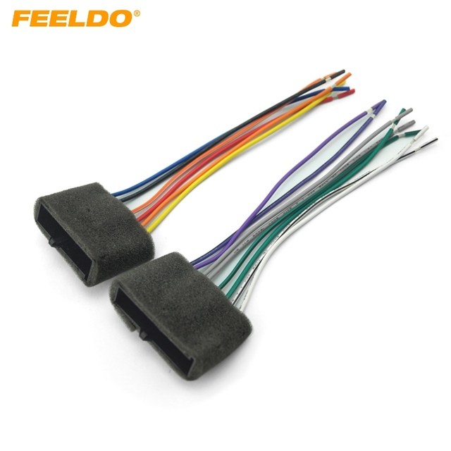 feeldo 1pair car radio audio stereo amplifier sub interface wire ford wiring harness feeldo 1pair car radio audio stereo amplifier sub interface wire harness for ford 1987 1993