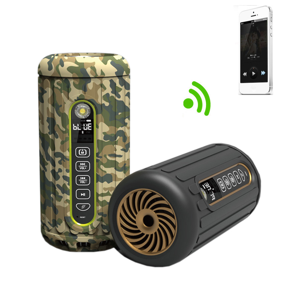 Outdoor Radfahren IPX4 Wireless Bluetooth Lautsprecher Mini Tragbarer Lautsprecher Subwoofer 6600mAh Sound Bar für IOS / Android / MP3 player