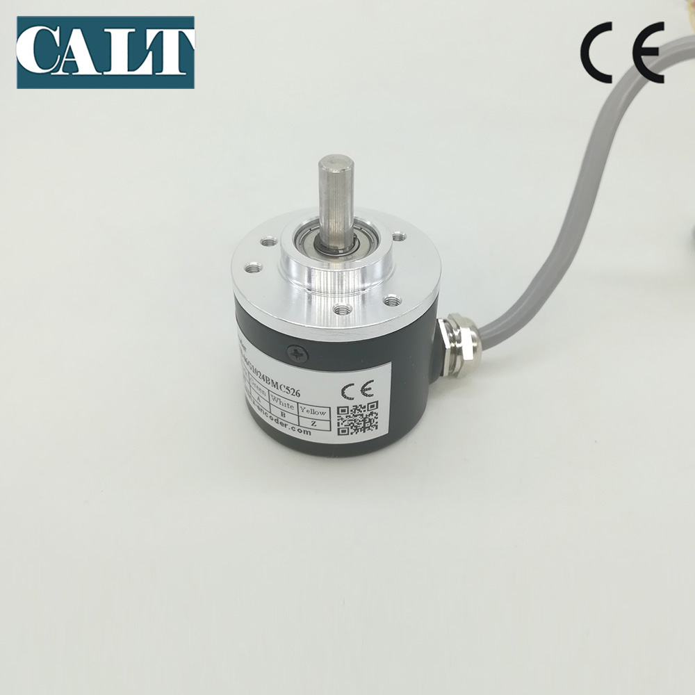 6mm solid shaft A B Z Signal Push pull output  incremental Photoelectric encoder 360 500 1000 1024 2000 2048 2500 3000 3600 ppr