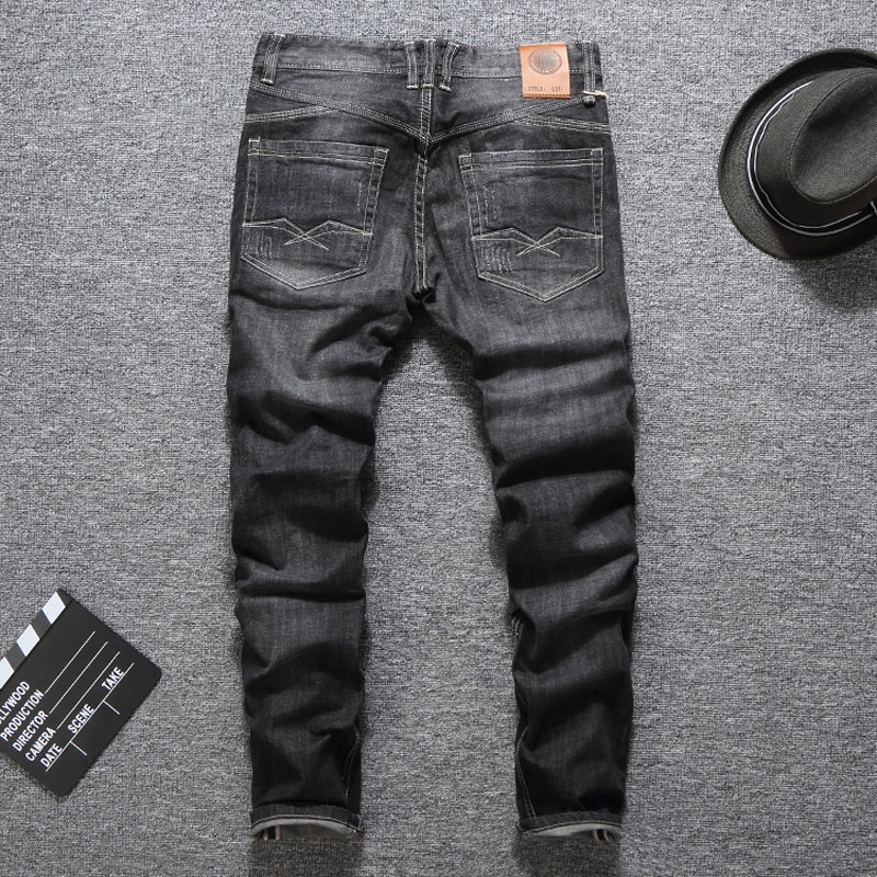 Black Color Fashion Buttons Jeans for Men 1