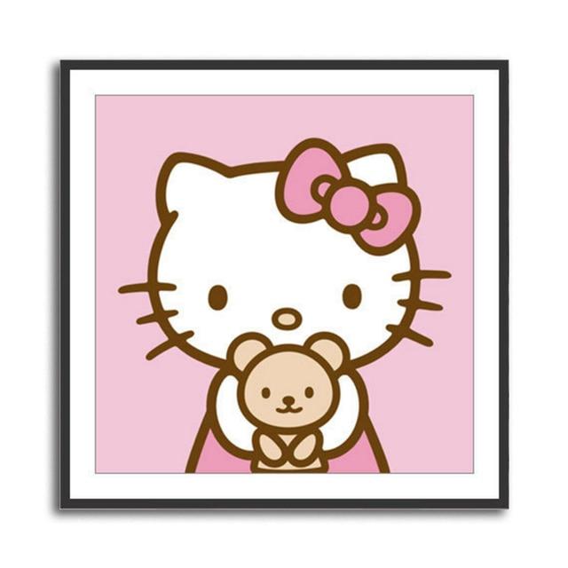 1d0605b06 New Exclusive Sale Full Square Drill Rhinestones 5D Diy Diamond Painting  Cartoon Hello Kitty Children Diamond Daimond Square