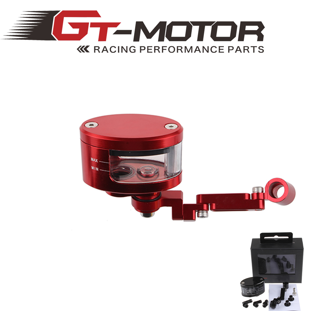 GT Motor - Universal motorcycle front brake clutch reservoir pump fluid tank bracket For HONDA FZ6 750 1000 Z750 Z800