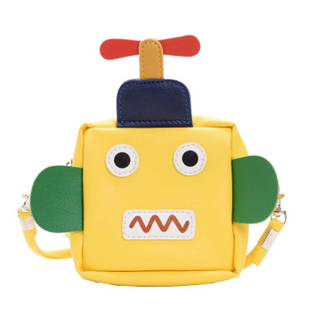 2019 yellow cartoon fashion messenger bag Girl 2019 New Fashion Casual Shoulder Bag Cute  Purse Children Messenger Bag #4gh(China)