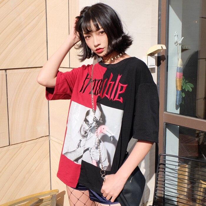 HTB15uReQpXXXXceXVXXq6xXFXXX3 - Kylie jenner Trouble T-Shirts Summer