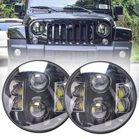 7 inch Headlights Car LED Lamp Certified by E9 LED Light 7'' High Low Beam 80W white DRL for Jeep Wrangler accessories