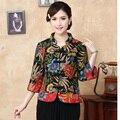 Ropa de 2015 nueva del otoño del resorte tradición china mujeres flor chaqueta de la capa L XL XXL1468