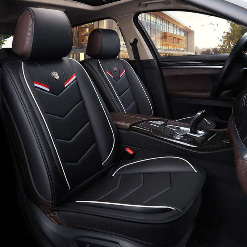 Leather Universal Car Seat Covers for dodge grand caravan intrepid journey nitro ram <font><b>1500</b></font> stratus of 2018 2017 2016 2015 image