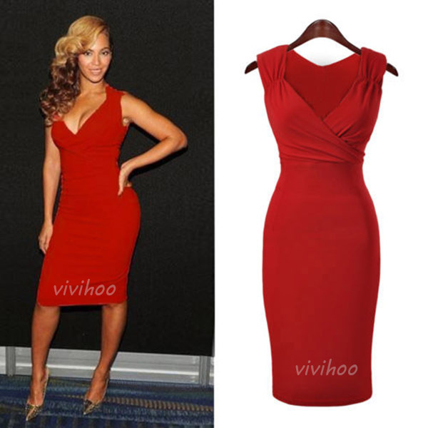 Popular Red Wiggle Dress-Buy Cheap Red Wiggle Dress lots from ...