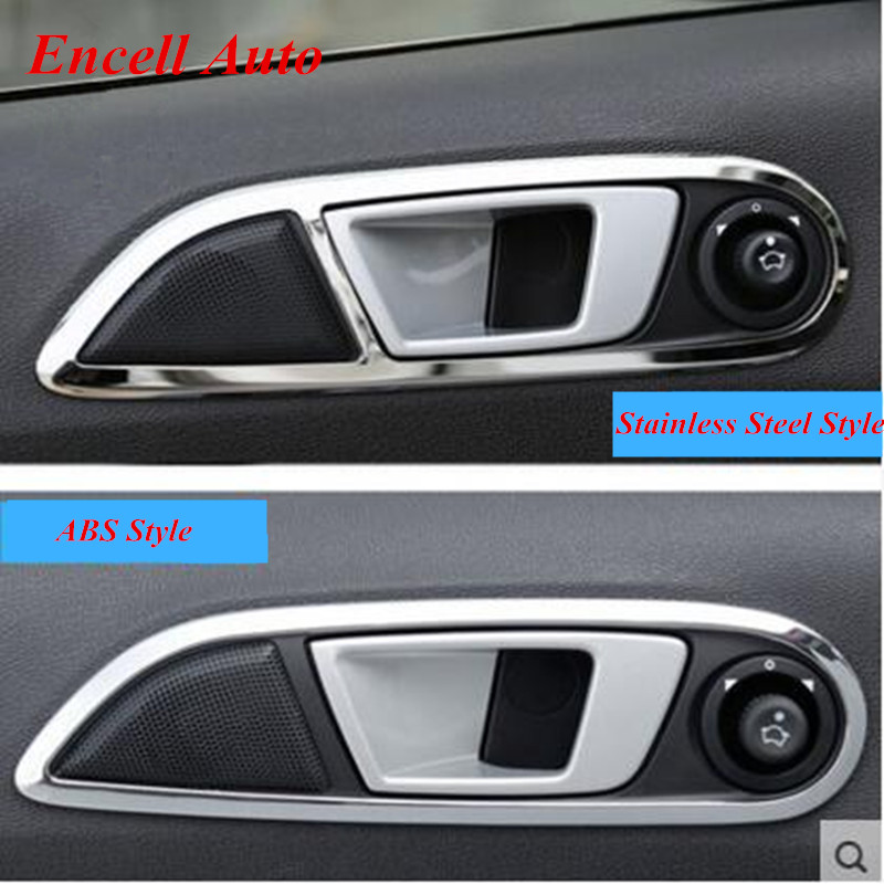 Hot ABS Chrome And Stainless Steel Inner Door Handle Stickers For Ford  Ecosport New Fiesta 2009 2010 2011 2012 2013 2014 2015