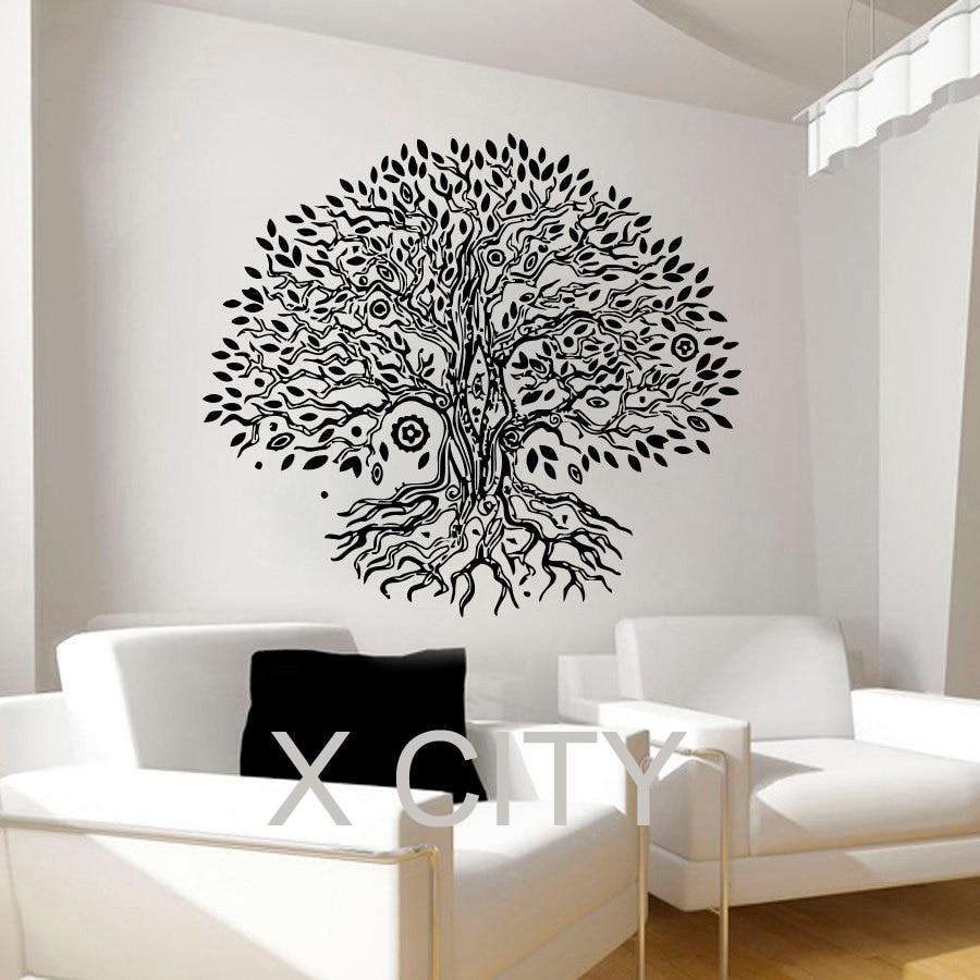 Pipal Bo Tree Wall Decals Namaste Vinyl Sticker Yoga ...