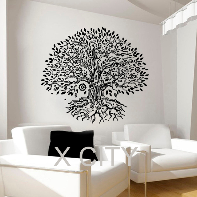 Pipal Bo Tree Wall Decals Namaste Vinyl Sticker Yoga