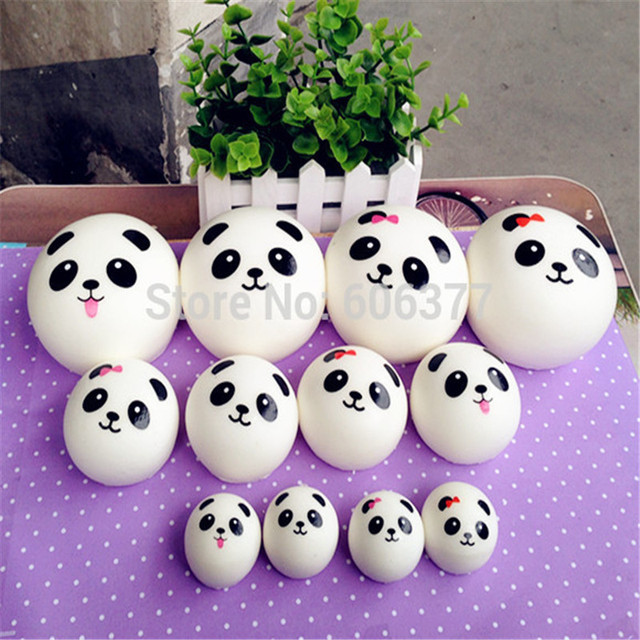Squishy Cartoon Panda Kawaii Wholesale Squishies Slow Rising Jumbo L M S Sizes Mobile Phone Charm Straps Squeeze Toys For Kids