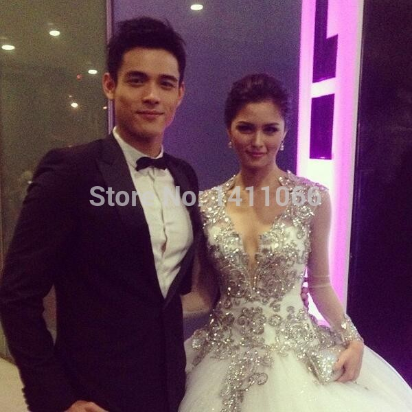2014 Luxury Ball Gown Wedding Dress Kim Chiu at Star Magic Ball V ...