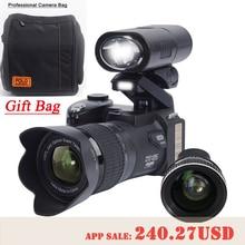 PROTAX D7300 digitalkameras 33MP Professionelle DSLR kameras 24X Optischer Zoom Telephotos & 8X Weitwinkel Objektiv Led-strahler Stativ