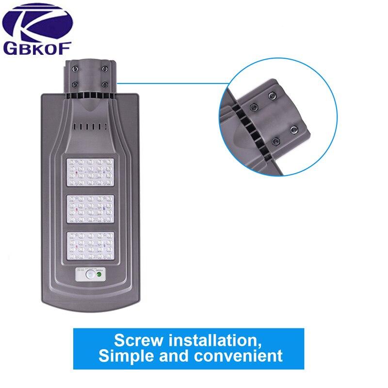 5 teile/los 20w 40w 60w LED solar Straße lichter Im Freien Wasserdichte IP65 PIR sensor led licht 50mm interface Smart lichter änderungen
