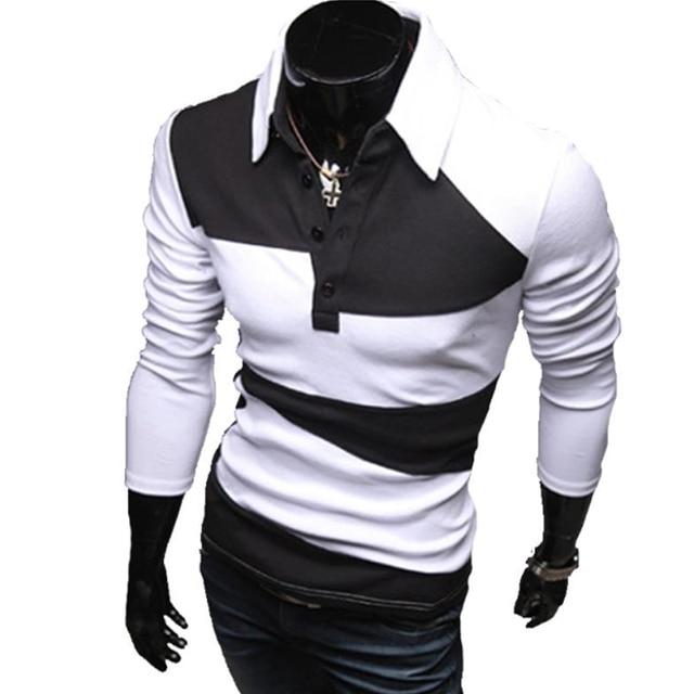 Camisa Polo Mens Marcas de 2018 do Sexo Masculino de Manga Curta Moda  Casual Magro Cor af05f32c53a4d