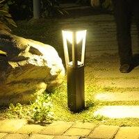Thrisdar Diamond Shape Aluminum Garden Pillar Lawn Lamp Outdoor Waterproof Landscape Pathway Villa Lawn Bollards Light